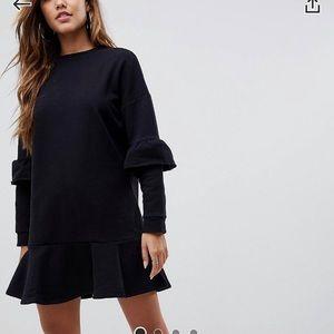 NEW ASOS design peep hem sweat dress